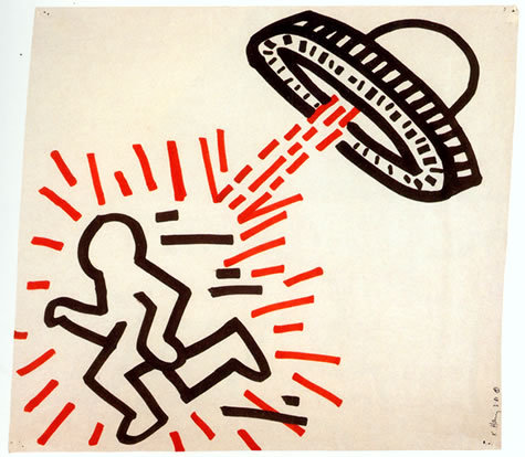bitterglitterqueer: Keith Haring - 1981