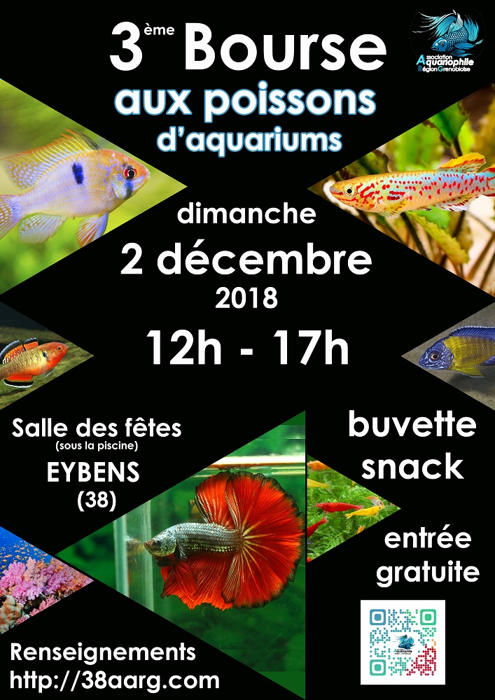 Bourse 2018 Association Aquariophile Région Grenobloise Affiche-2018-eybens