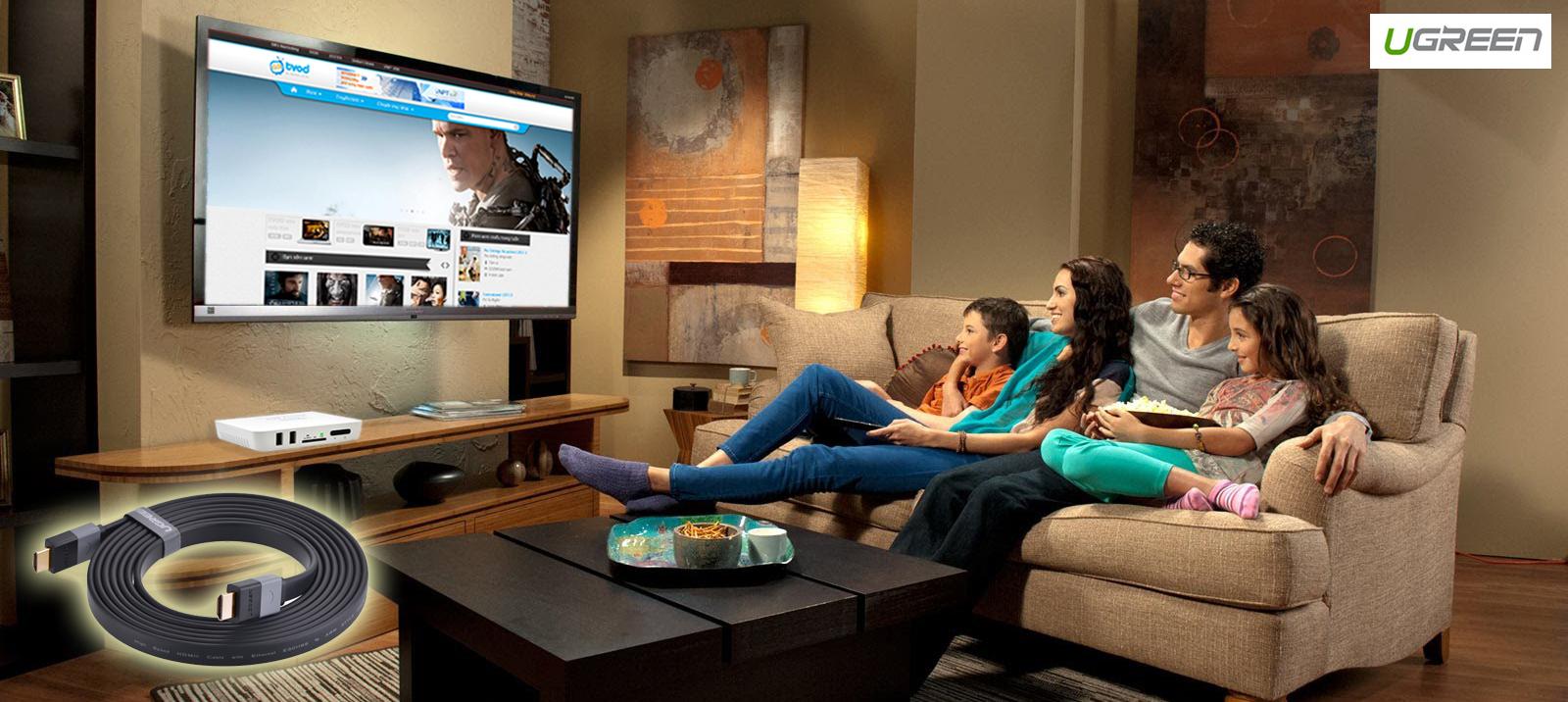 Sản phẩm cần bán: Cáp HDMI dẹt 1m cao cấp Ugreen 30108 Cap-hdmi-det-1m-ugreen-hd120-30108-3