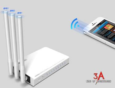 Bộ phát wifi 3 râu 300 Mbps hỗ trợ Printer server, FTP server Totolink N302r  Bo-phat-wifi-3-rau-Totolink-N300RU-3a-1