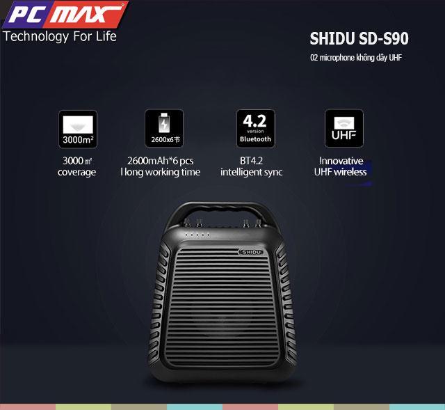 Máy trợ giảng không dây UHF wireless Shidu SD-S90 chất lượng cao S90%201