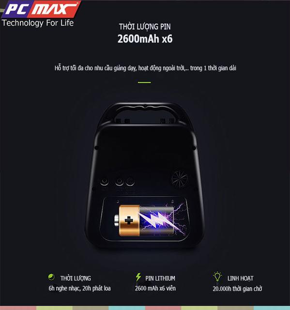 Máy trợ giảng không dây UHF wireless Shidu SD-S90 chất lượng cao S90%204