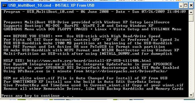 بتنصيب الفيستا او xp لكن لا يوجد لديك قارئة اقراص CD ROM Usbmulyiboot2