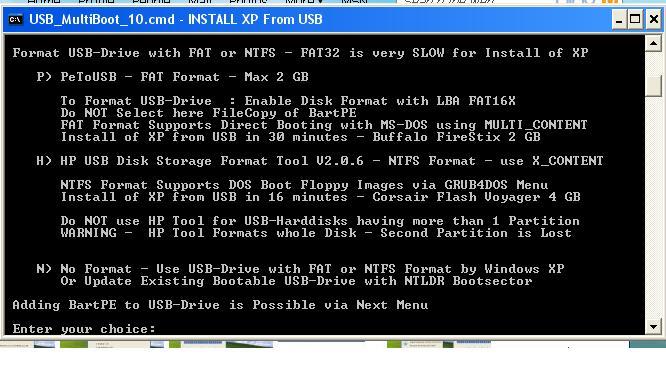 بتنصيب الفيستا او xp لكن لا يوجد لديك قارئة اقراص CD ROM Usbmulyiboot3