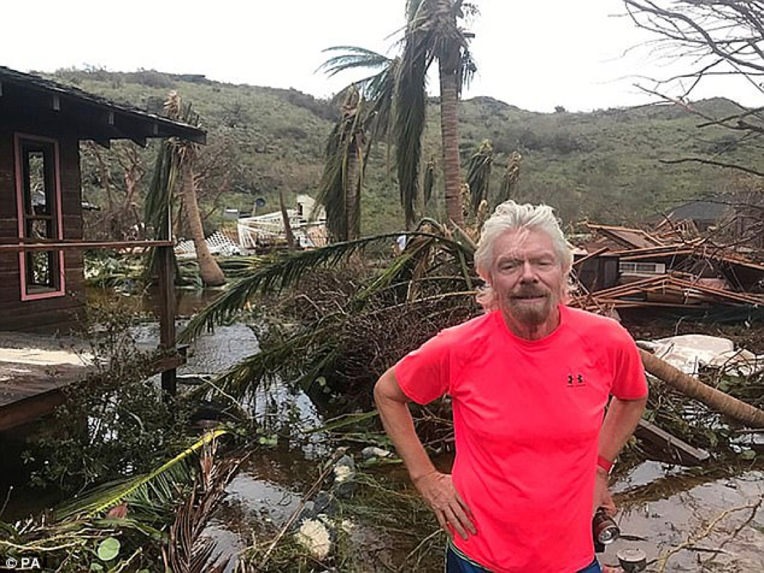 That's a Tough Life, Right There…Richard Branson Irma-5
