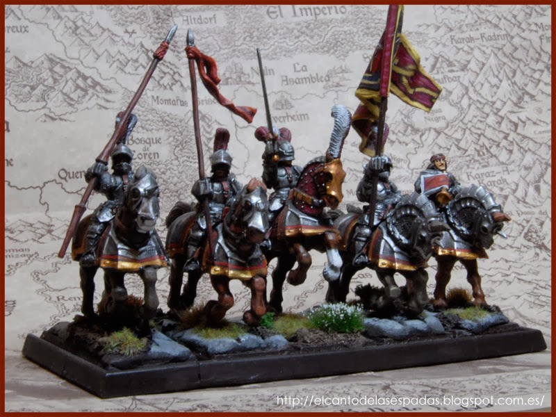 El Canto de las Espadas Miniatures. Caballeros-imperiales-espada-rota-volans-empire-knigths-brokens-sword