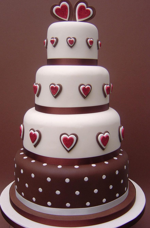 Dekoracije na tortama - Page 2 Chocolate-love-wedding-cake