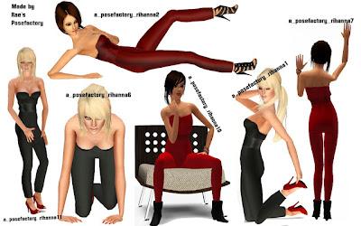 Rihanna Pose Pack by Rae  Rihanna2