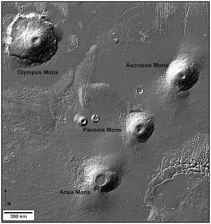 Las pirámides de Giza y los Montes Tharsis en Marte Olympus%2Bmons%252C%2BMarte%2B3