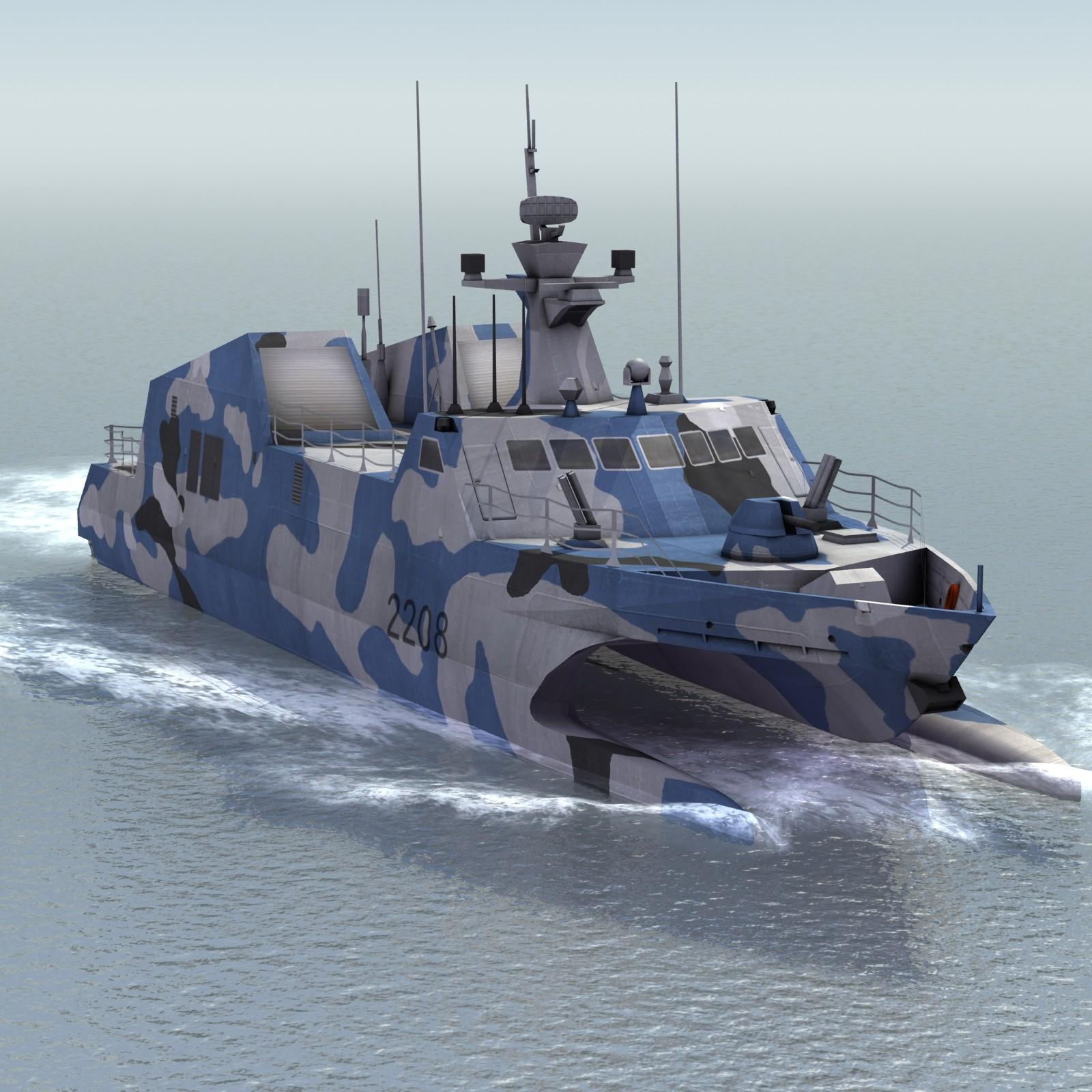 Misileras Type 22 Chinas, para reemplazar a las Misileras Hebreas de la ARM. Type-022%2BHoubei%2Bstealth%2Bcatamaran