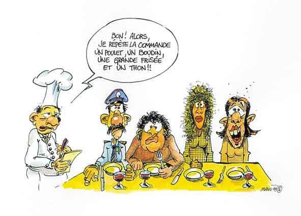DESSINS  HUMORISTIQUES   (pas de photos) - Page 6 Au-restaurant