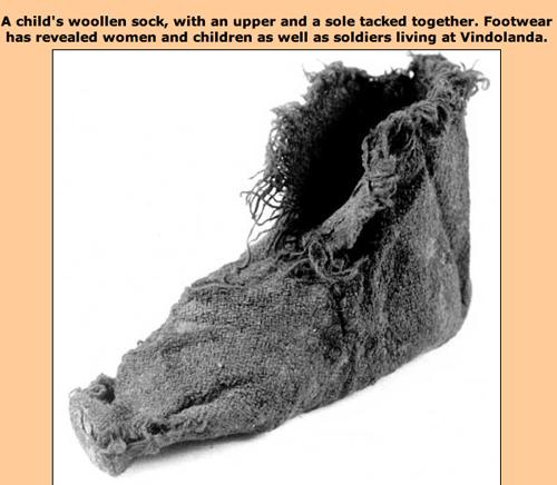 The History of Knitting. Roman-Vindolanda-sock