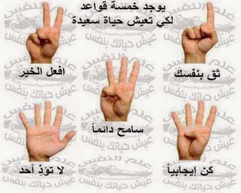 القواعد الخمس لحياة سعيدة  531924_449475615166552_1344866096_n