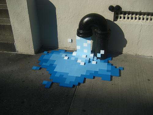 Images insolites - Page 2 Street-art-pixellisation