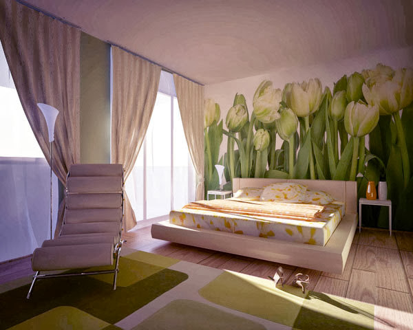 صور تصاميم ديكورات غرف نوم مودرن رائعة 2014 Bedroom Decoration  8-floral-bedroom-1