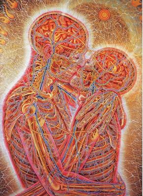 Twin Flame Soulmates  AlexGrey-Kissing