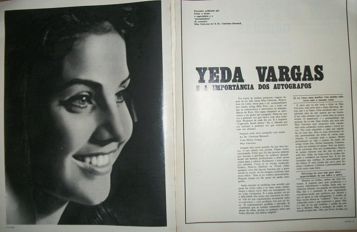 ✾◕‿◕✾ Galeria de Ieda Maria Vargas, Miss Universe 1963.✾◕‿◕✾ Yeda