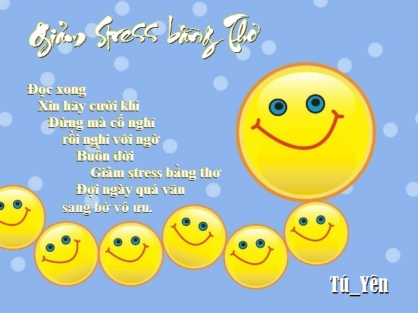 Giảm Stress bằng thơ Vvui2