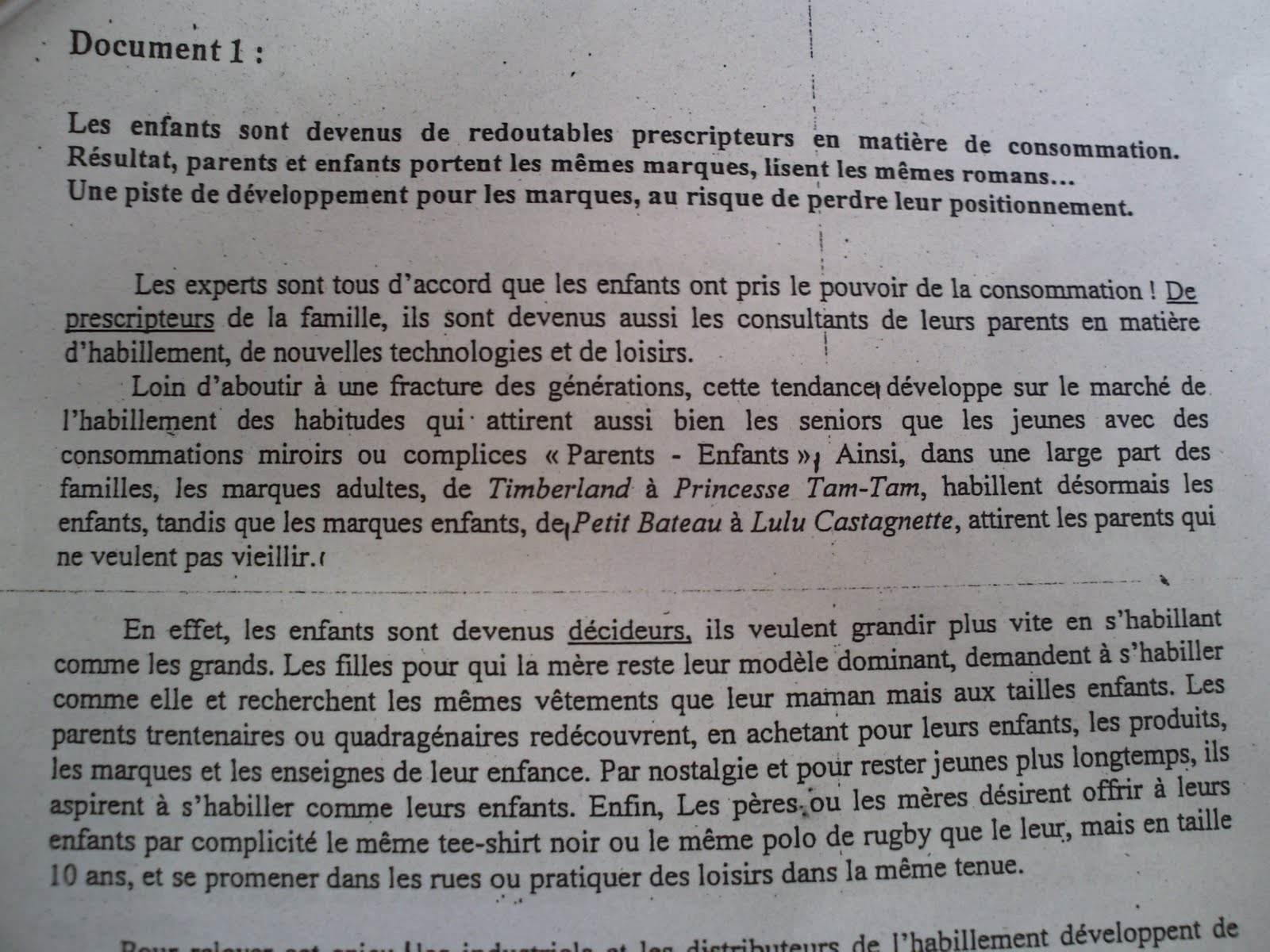 Examen de passage 2009 pratique variante 3 TSC 5