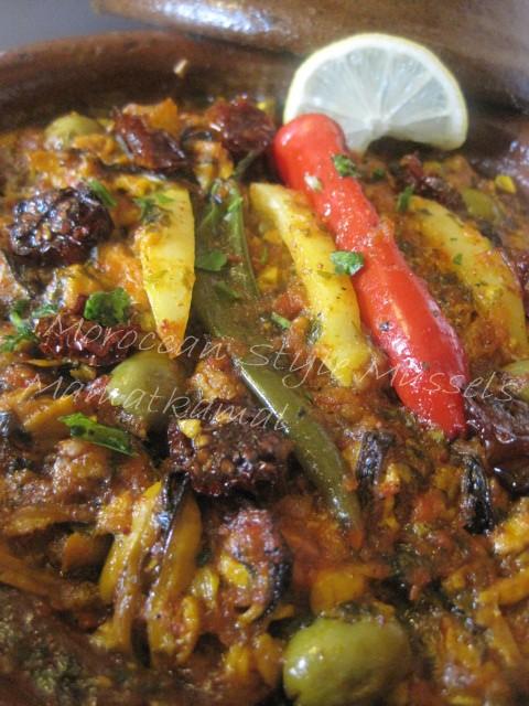 Tajine marocain aux Moules, Huile d'Argane et Tomates Séchées (Tajine dyal Bouzroug) Img_5311