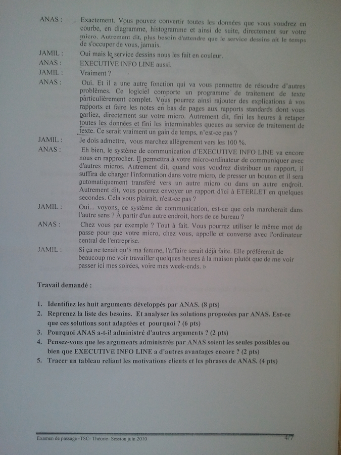 Examen de Passage TSC Pratique et Théorique 2010 004