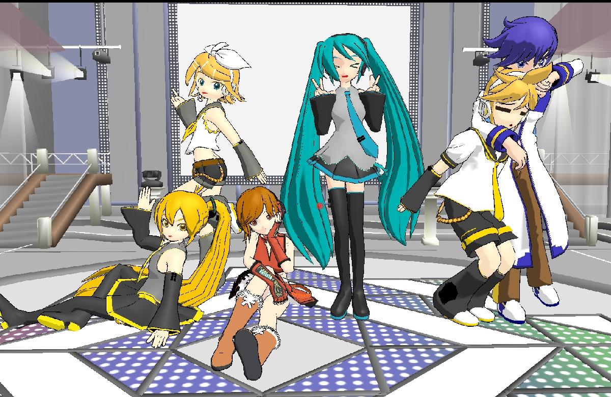 Clichés D'Hatsune Miku. Miku_miku_dance_family_pic_by_dadoofus