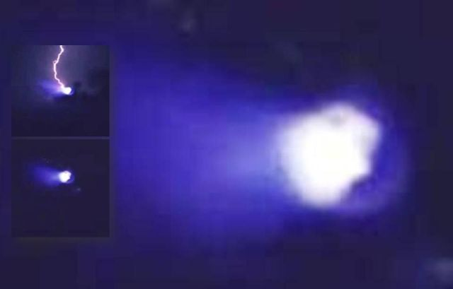 UFO News ~ UFO Disapears into Mountains instantly and MORE Ufo%2Blightning