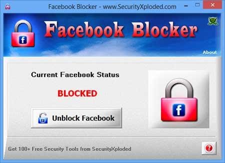 Facebook Blocker 2.0 برنامج منع فتح الفيسبوك Facebookblocker