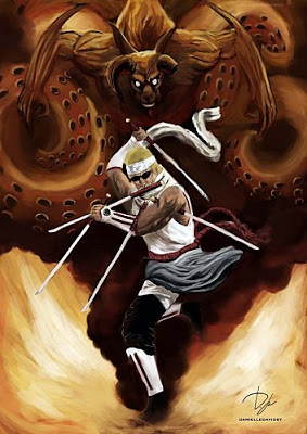 Galerie d'images Naruto - Page 6 Eight_Tailed_Killer_Bee_by_four_corners