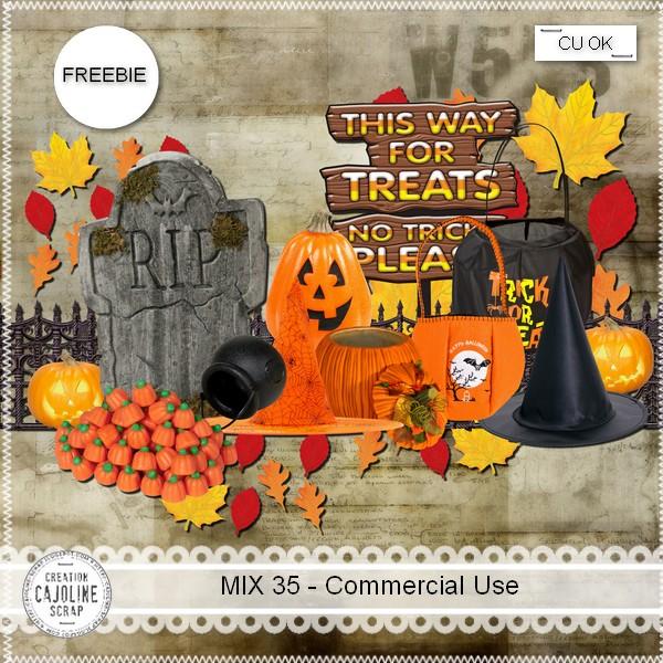 Halloween Freebie Mix 35 Commercial Use By Cajoline Scraps Cajoline_mix35_cu