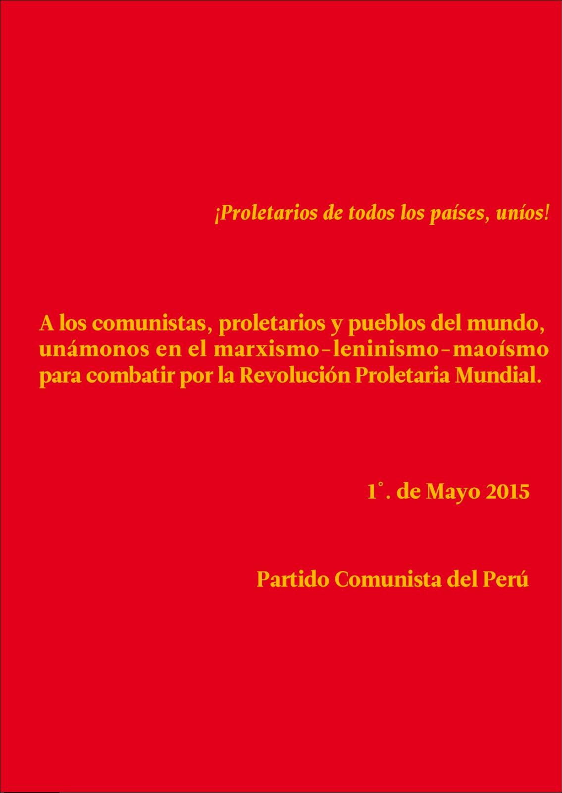 Partido Comunista del Perú - 1º. de Mayo 2015 1_-01