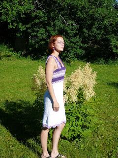 kootud - Kootud kleit heegeldatud passeosaga DROPS 101-27 P1080400