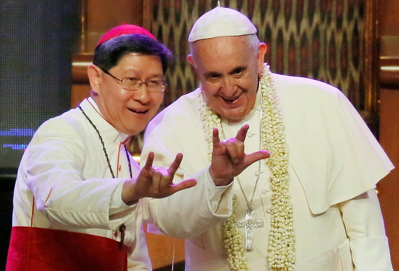 Francisco, reinado o pontificado. - Página 10 Tagle%2BFrancesco%2B2