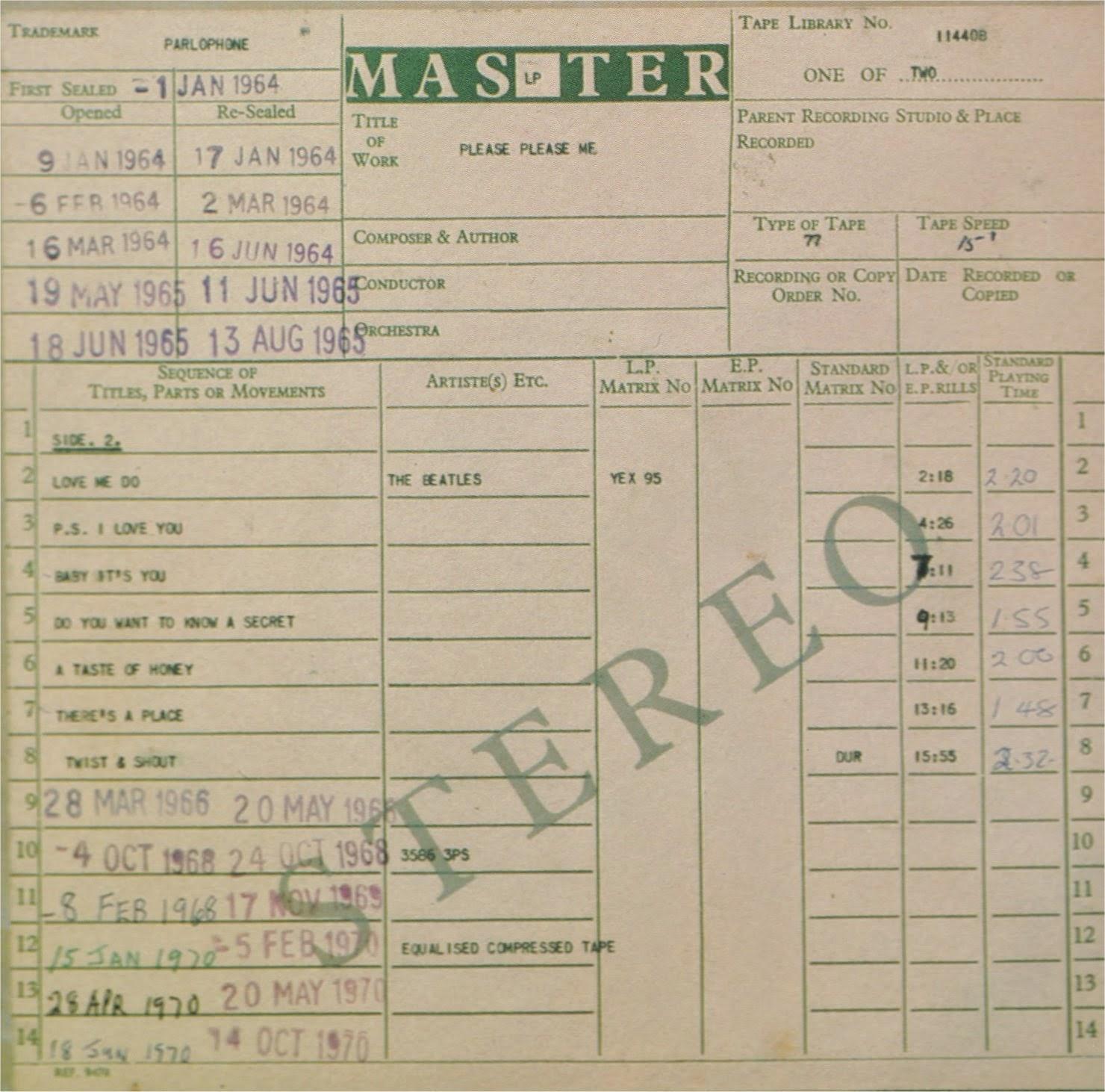 Dates précises des albums originaux sur Barclay Mfppmx1b