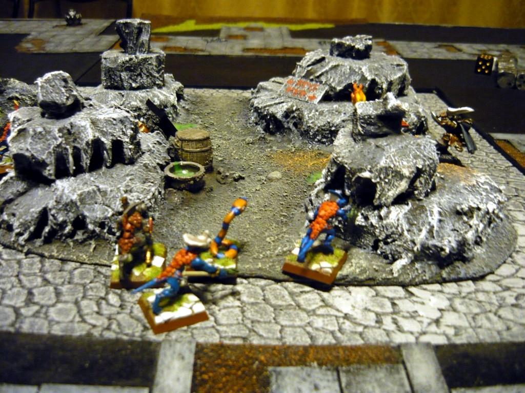 Testing Karak Zorn - first battle in the dungeons P1050534