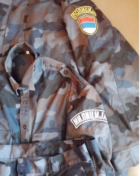 Yugoslavian Police blue puzzle pattern Plava2