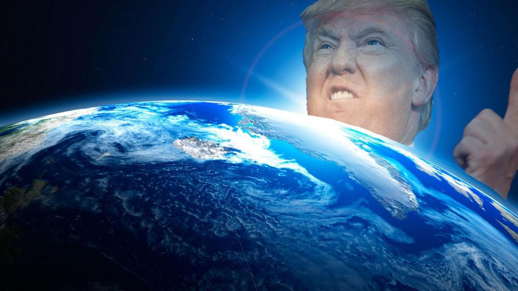 الرئيس ترامب يأمر بتشكيل قوة فضائية لتكون الذراع السادسة في الجيش الأميركي. Trump%2Bin%2BSpace