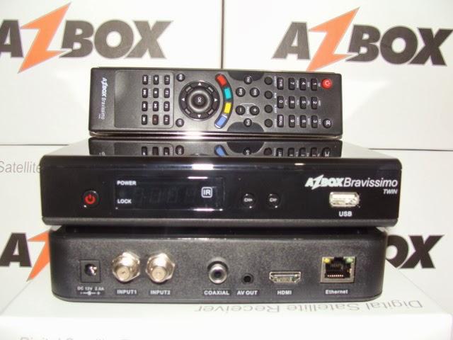 Nova atualização   para o seu aparelho  Azbox Bravissimo Twiw  HD  Data:16/03/2015. Bravissimo