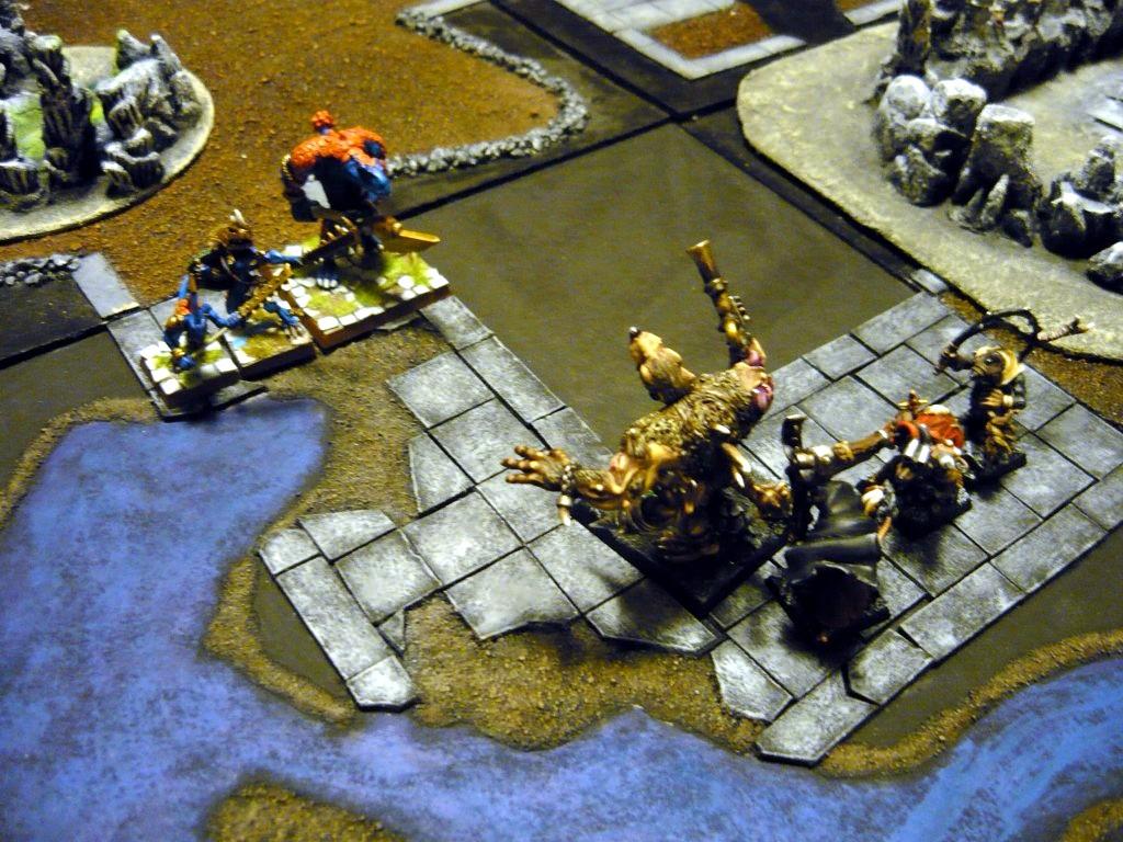 Testing Karak Zorn - first battle in the dungeons P1050526