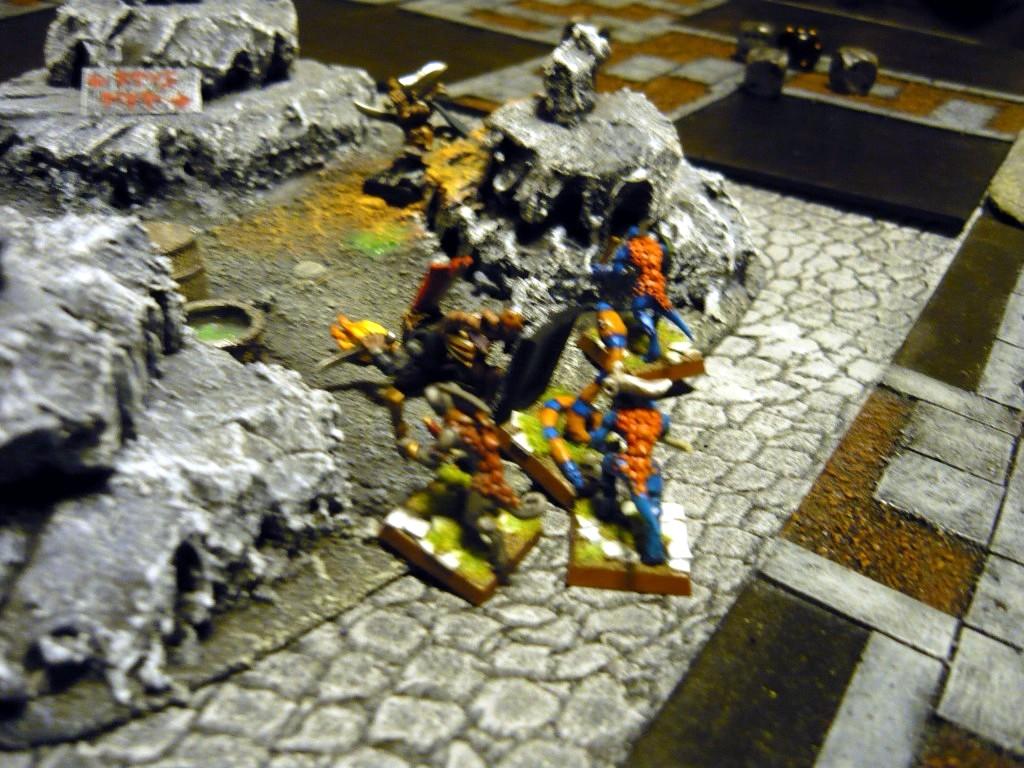 Testing Karak Zorn - first battle in the dungeons P1050541
