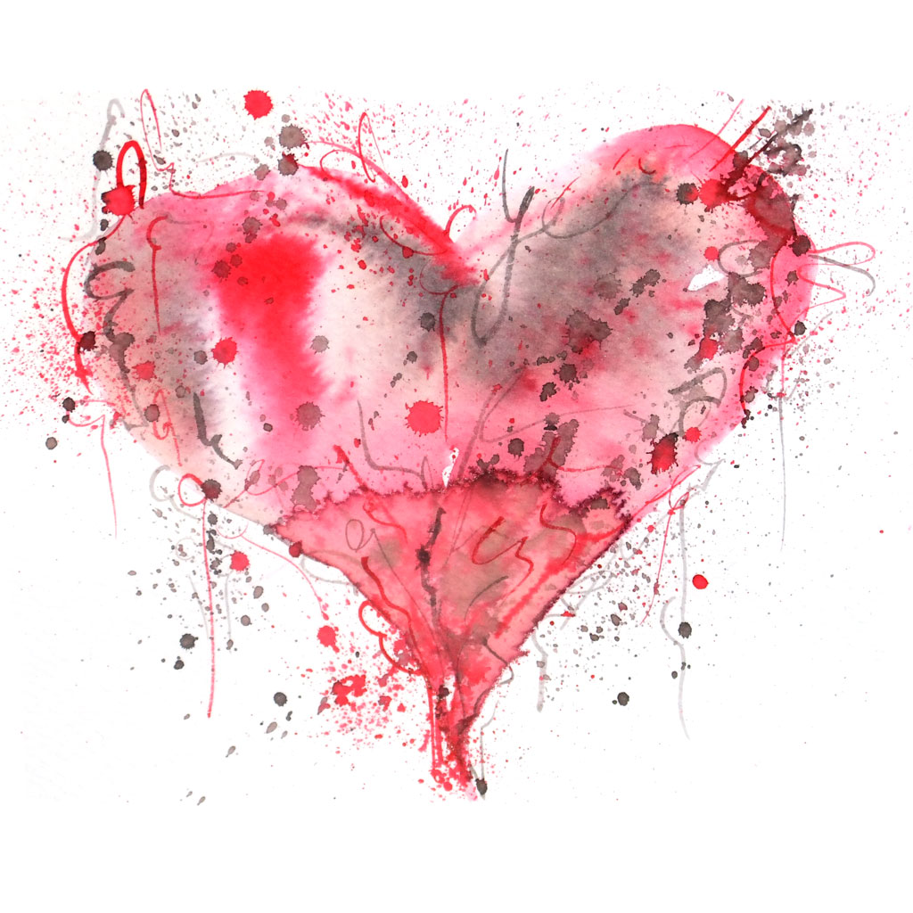 Srce srcu Emma-Plunkett-art-red-love-heart-painting7