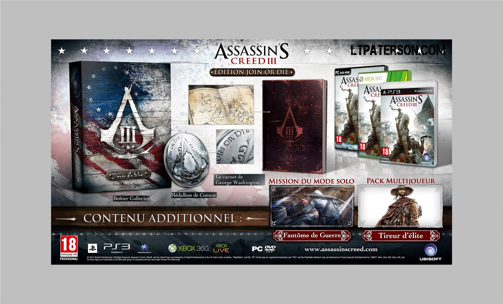 Assassin's Creed 3 - Editions collectors AC3_JOIN_OR_DIE_MOCK-UP_SOURCES_FR