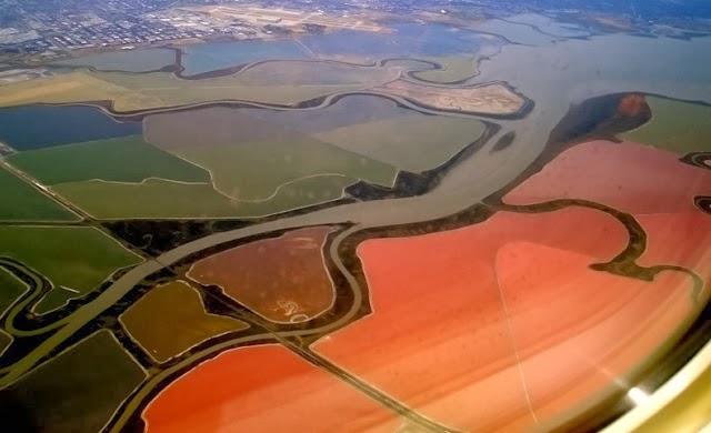 احواض الملح الملونة في خليج سان فرانسيسكو (بالتة الوان طبيعية)  10