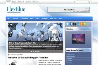 تحميل قالب بلوجر Flex Blue Blogger Template  Flexblue-blogger-template1