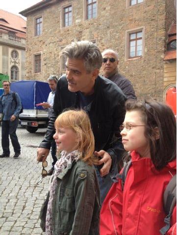Photos and videos: George Clooney filming in Merseburg Georgeberlin1