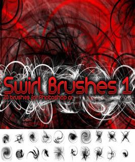 فرش فوتوشوب دومات دائرية Swirl Brushes Photoshop Arab-Design