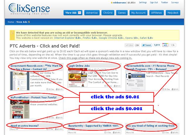 comment gagner de l'argent de poche + preuve de payment 50$ Clixsense7
