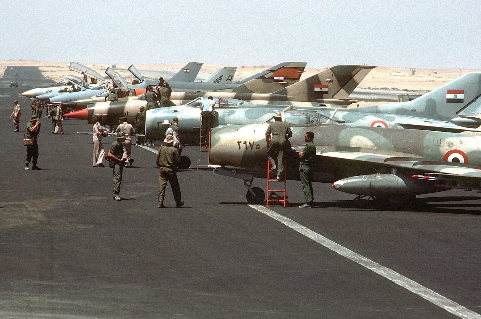 Fate of Russia's old birds. - Page 6 Egyptian-migs-airshow