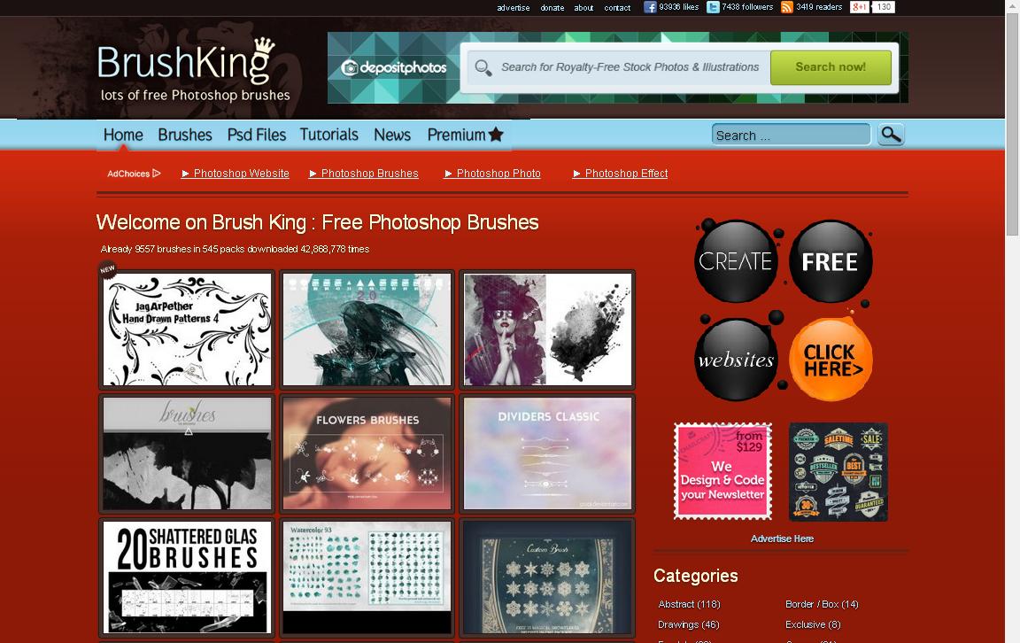 افضل المواقع لتحميل فرش الفوتوشوب Brushking