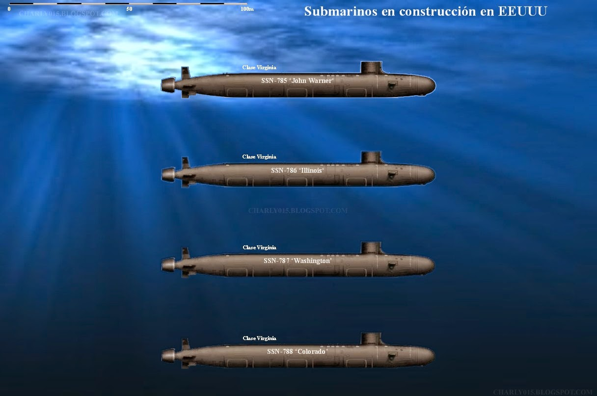 Russian Nuclear Submarine Force: Discussion - Page 5 Submarinos%2Bestadounidenses%2Ben%2Bconstrucci%C3%B3n